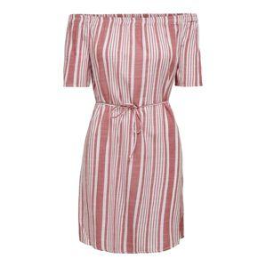 ONLY Letní šaty  světle červená / bílá