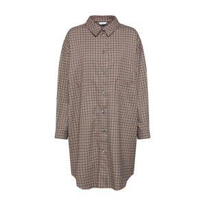 Envii Košilové šaty 'ENCOFFEE 6684'  béžová / hnědá / černá