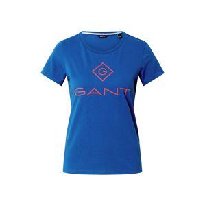 GANT Tričko  modrá / oranžová