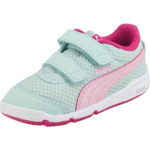 PUMA Tenisky 'Stepfleex 2 Mesh V Inf'  mátová / pink / bílá