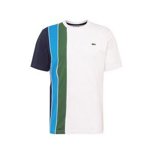 LACOSTE Tričko  bílá / zelená / modrá