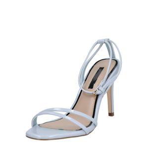 Miss Selfridge Páskové sandály 'Skinny Strap Heels'  světlemodrá
