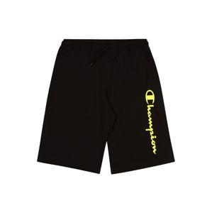 Champion Authentic Athletic Apparel Kalhoty  černá / žlutá