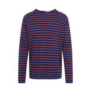 Nudie Jeans Co Tričko 'Otto Breton'  červená / tmavě modrá