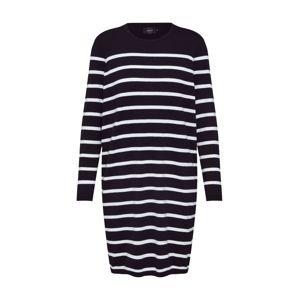 ONLY Šaty 'onlAYO L/S DRESS KNT'  černá / bílá