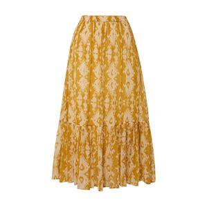 Mes Demoiselles Sukně 'Sumatra'  žlutá / bílá