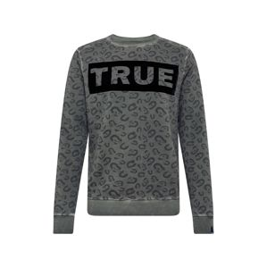 True Religion Mikina 'CREW SWEAT BLOCK LEO THYME'  khaki