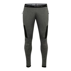 MOROTAI Sportovní kalhoty 'Running Performance Pants'  šedý melír / černá