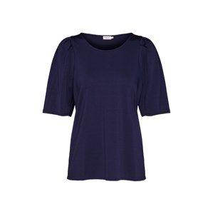 Filippa K Tričko 'Pleat Top'  námořnická modř