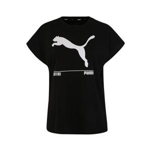 PUMA Funkční tričko 'Nu-tility Tee'  bílá / černá