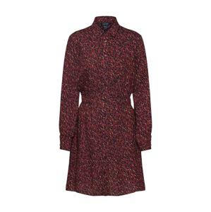 NEW LOOK Košilové šaty  mix barev / vínově červená