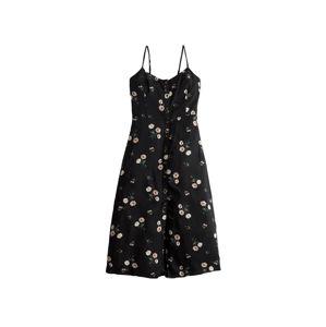 HOLLISTER Letní šaty 'BTS19-BARCA TWISTBACK MIDI DRESS 2CC'  černá