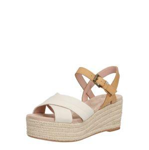 TOMS Páskové sandály 'WILLOW'  bílá / béžová / hnědá