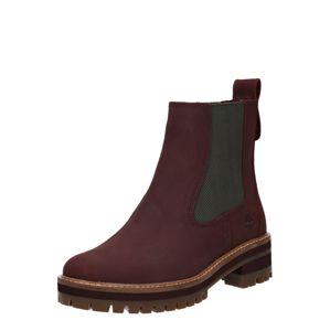 TIMBERLAND Chelsea boty  tmavě fialová / černá