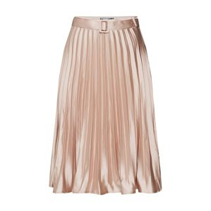 Missguided Sukně 'Belted Pleated Midi Skirt'  champagne