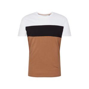 BURTON MENSWEAR LONDON Tričko  černá / písková / bílá