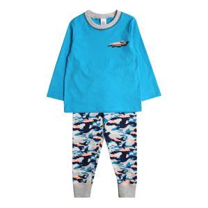 SANETTA Pyžamo 'Pyjama long'  tyrkysová