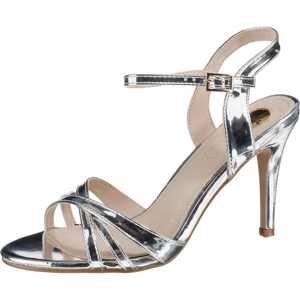 BUFFALO Páskové sandály 'Anja'  stříbrná