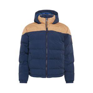 TIMBERLAND Zimní bunda  námořnická modř / béžová