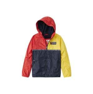 Abercrombie & Fitch Přechodná bunda '(F-E12356) BTS19-CORE WINDBREAKERS 1CCEBC 3CC'  námořnická modř / tmavě žlutá / červená