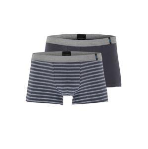 SCHIESSER Boxerky  antracitová / tmavě modrá / šedá