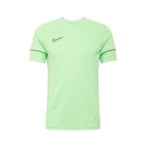 NIKE Funkční tričko  černá / světle zelená