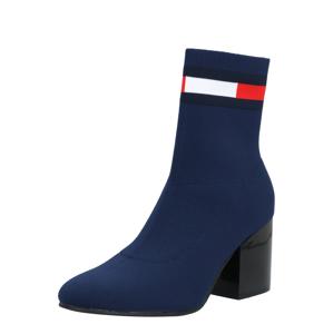 Tommy Jeans Nízké kozačky  kobaltová modř / červená / bílá