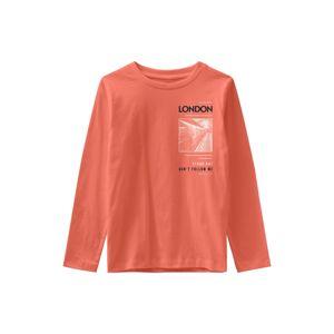 NAME IT Tričko 'Vagno'  oranžově červená