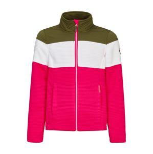 KILLTEC Přechodná bunda 'Tarra'  pink / bílá / zelená