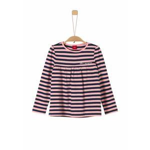 S.Oliver Junior Tričko  kobaltová modř / světle růžová
