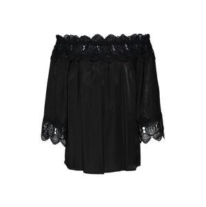 Cream Halenka 'Flora Lace Blouse'  černá