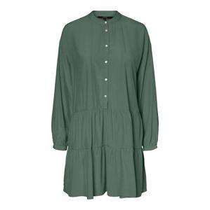 VERO MODA Šaty  tmavě zelená