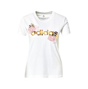 ADIDAS PERFORMANCE Funkční tričko  offwhite / zlatá / černá / světle růžová