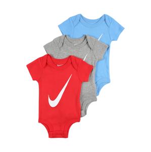 Nike Sportswear Dupačky/body  červená / šedý melír / světlemodrá / bílá