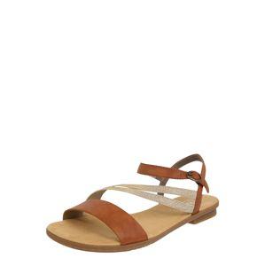 RIEKER Páskové sandály  hnědá / zlatá