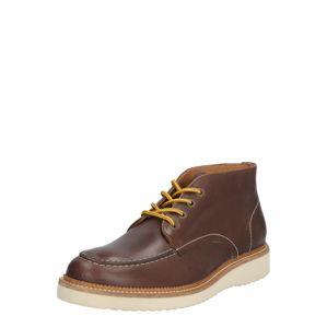 SELECTED HOMME Šněrovací boty  tmavě hnědá
