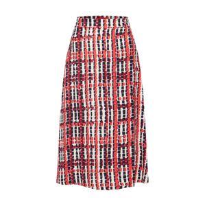 MAX&Co. Sukně 'CAVALESE'  bílá / červená / černá