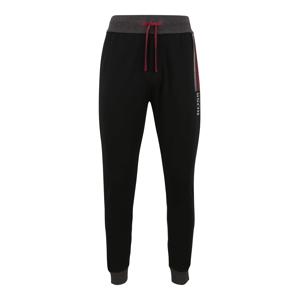 BOSS Kalhoty 'Authentic'  černá / šedý melír / bordó / červená