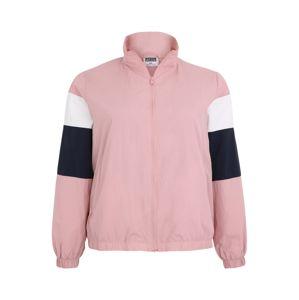Urban Classics Curvy Přechodná bunda  bílá / růžová / černá