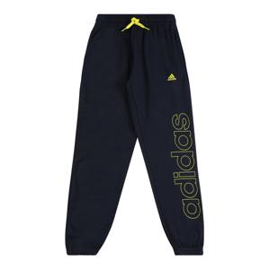 ADIDAS PERFORMANCE Sportovní kalhoty  černá / svítivě žlutá