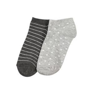 ABOUT YOU Ponožky  šedá / bílá / antracitová
