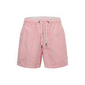 JACK & JONES Plavecké šortky  růžová / bílá