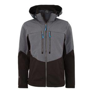 ICEPEAK Outdoorová bunda 'Lefty'  šedá / černá