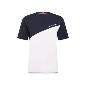 Tommy Sport Funkční tričko  bílá / noční modrá / světle červená