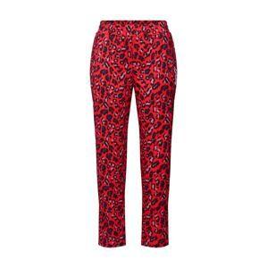 Juicy Couture Black Label Kalhoty se sklady v pase 'Poly Tricot Track Printed Pant'  červená / černá