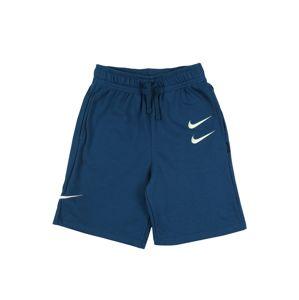 Nike Sportswear Kalhoty 'SWOOSH'  modrá