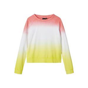 NAME IT Mikina  bílá / pink / žlutá