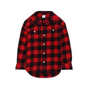 GAP Košile 'Buff Plaid'  červená / černá
