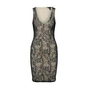 NEW LOOK Koktejlové šaty  tělová / černá
