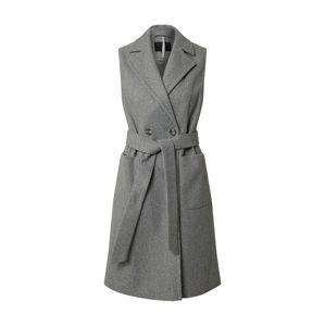 Dorothy Perkins Přechodný kabát 'Sleeveless Wrap Coat'  šedá